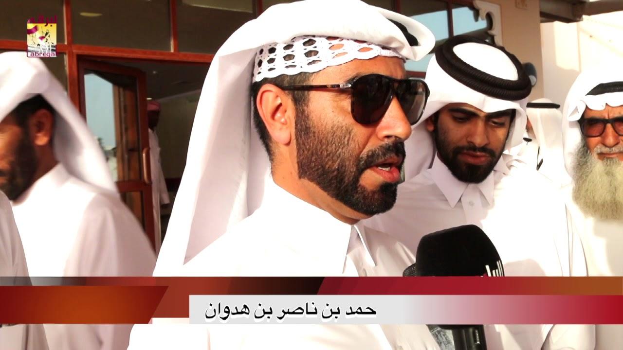 لقاء مع حمد بن ناصر بن هدوان متحدثاً عن الفوز بالخنجر الفضي للحقايق قعدان مهرجان تحدي قطر ١٠ ٥ ٢٠١٨