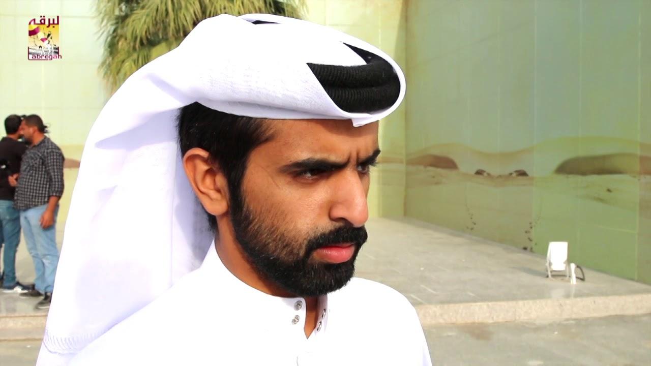 لقاء مع جابر بن سالم بن فاران الفائز مع هجن الشحانية بخنجر الجذاع قعدان المفتوح مساء ٢٧-١٢-٢٠١٨