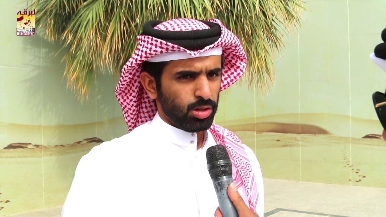 لقاء مع جابر بن سالم بن فاران المري الفائز مع هجن الشحانية بالشلفة الذهبية للثنايا بكار عمانيات للأشواط المفتوحة مساء ٧-٤-٢٠١٩